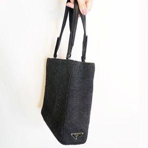 Prada Knit Wool Mini Tote Bag